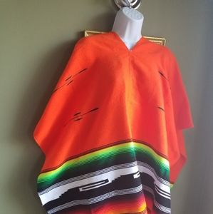Womens Indian Aztec Tribal Poncho